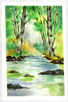 "Original Watercolor Painting 9 x 6"" National Park Not ACEO"