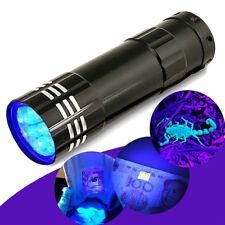 9 LED Aluminium Multipurpose UV Ultra Violet Pen Torch Flash Light Flashlight