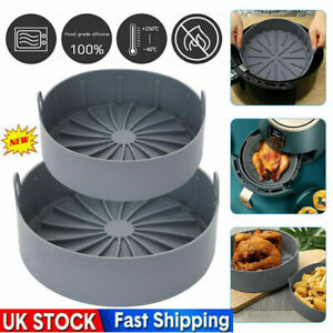Multifunctional Air Fryer Silicone Pot Bread Cake Grill Pan Home Kitchen Tool UK