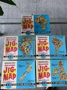 Waddingtons Vintage Jig-map Collection X 5
