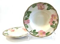 "Franciscan Desert Rose 8-1/2"" Rimmed Soup Cereal Bowls Set of 2 England 1995"