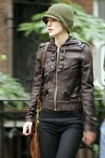 Mike And Chris Leather Jacket Hoodie Top In Black Size XS