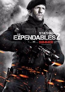 The Expendables 2 Film Poster - Jason Statham - Option 7 - A4 & A3