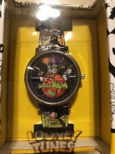 Warner Bros Looney Tunes Space Jam Wrist Watch w/Faux Leather Band New
