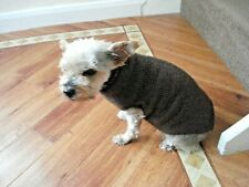 Brown Hand Knitted Dog Coat/Sweater/Jumper Small  5-6 kg New Other Colours