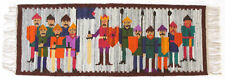 More details for army / warriors vintage 1970's folk art polish textile wall hanging cepelia