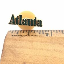 "Lapel Pin - Atlanta - .75"" Green Gold Atl GA Georgia"