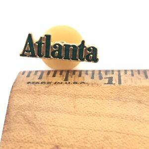 """Lapel Pin - Atlanta - .75"""" Green Gold Atl GA Georgia"""