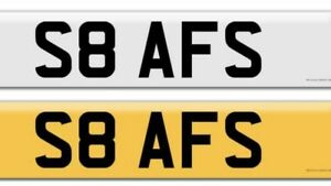 Private Number Plate S8 AFS   Means -SAFS