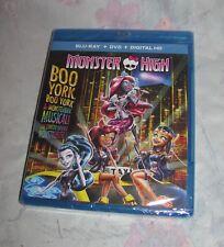 Monster High Boo York Movie Bluray + DVD, New Sealed
