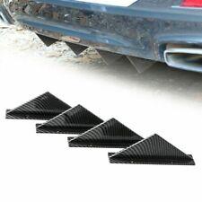 4PCS Carbon Style Body Rear Lower Bumper Diffuser Fin Spoiler Lip Wing Splitter