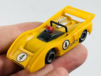 Tyco Pro McLaren M8F HO Slot Car racing yelow porche