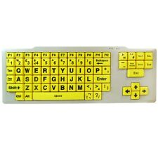 VISUALLY IMPAIRED SPECIAL NEEDS KEYBOARD XL LARGE YELLOW KEYS PC USB DESKTOP