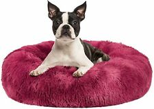 New listing Dog Bed Cat Bed Donut Cuddler 16 20 23 30inch Anti Anxiety Fluffy Round Calming