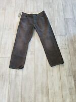 ERMENEGILDO ZEGNA Dark Brown DENIM 100% COTTON Mens Pants Jeans - 38