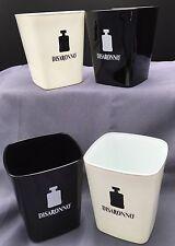 Lot Of 4 Disaronno Amaretto Liqueur Glasses Black & White Square Tumblers