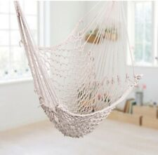 Indoor Outdoor Cotton Hanging Rope Air/Sky Chair Swing beige
