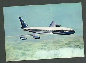 PICTURE POSTCARD - BOAC - BOEING 707-3208 INTERCONTINENTAL JETLINER - Unused