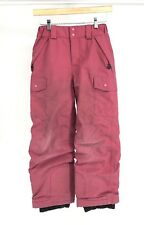 Patagonia Boys Girls Kids Youth Red Snow Rain Pants Medium M 10 (B9)