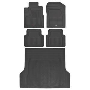 Motor Trend All Weather Rubber Car Floor Mats & Cargo Trunk Liner - Black 5pc