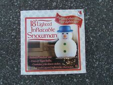 """CHRISTMAS INFLATABLE 18"""" SNOWMAN NEW SEALED NIB LIGHTED HOLIDAY"""