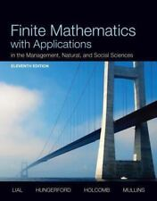 Finite Mathematics with Applications in the Management Natural 11th Ed 2013 HC