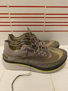 Nike Zoom Fly SP Running Sepia Stone Grey Yellow AA3172 201 Size 12 Men