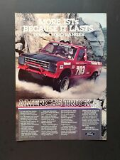 Vintage 1987 Ford Ranger Truck - Original Full Page Color Ad