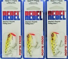 (3) Rebel Lures Topwater Pop'N Frog Bait Swamp Frog P20510