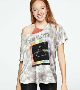 VS PINK Graphic Short Sleeve Band Tee Size Medium Gray Victoria's Secret