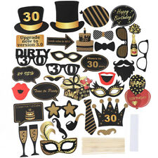 21st/30/40/50/60th Happy Birthday Party Photo Booth Props Selfie Decoration UK