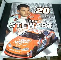 Tony Stewart 20 Home Depot 2 x 3 Oversized Nascar Flag Single Sided Curved Hem