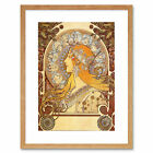 Alphonse Mucha Zodiac 1896 Old Master Picture Framed Wall Art Print