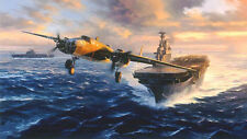 Nic Trudgian B-25 print Tokyo Bound signed by 4 veterans of the Doolittle Raid