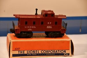 LIONEL # 6357 LIGHTED CABOOSE WITH BOX - EXCELLENT CONDITION