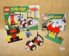 Conjuntos de LEGO: creador conjunto básico: 4173-1 Max's Pit Stop (2001) 100% 4 Juniors con Inst