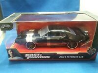 Fast and Furious Dom's Plymouth GTX Black Diecast 1:24 Scale Rear Spoiler Jada