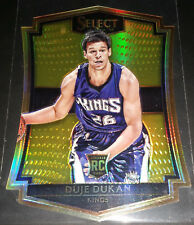 Duje Dukan 2015-16 Select PREMIER LEVEL GOLD PRIZM Rookie Card (#'d 10/10!)