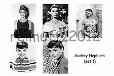 AUDREY HEPBURN - SET OF 5 LARGE PHOTO PRINTS # 1