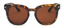 Mohawk Mujer Extragrande Gafas Sol De Diseñador CAREY & Lente Marrón Uv400 Y51