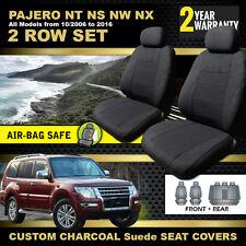 CUSTOM MITSUBISHI PAJERO SEAT COVERS F+R 2006-16 NS NT NW NX GLX GLS VRX