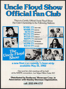 THE UNCLE FLOYD SHOW__Orig. 1982 Trade print AD / ADVERT__Vivino_Dale Oprandy_TV