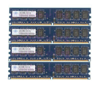 Nanya 8GB 4X 2GB DDR2 2RX8 800MHz PC2-6400U DIMM Desktop intel RAM Memory PC6400