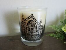 Vanilla scented glass jar candle featuring Cincinnati Music Hall, OH