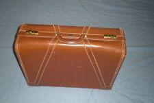 "Vintage PLATT Guardsman 24"" Full Grain cowhide  Leather Luggage  Suitcase 5482"
