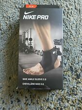 Nike Pro Ankle Sleeve 2.0 Black Size M Compression Support Brace wrap