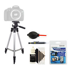 Tall Tripod + Cleaning Accessory Kit for Canon EOS 1300D 1200D