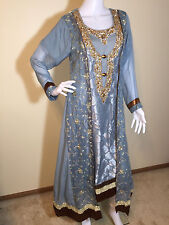 Pakistani dress Party wear suit with embroidery Indian dress Salwar Kameez M