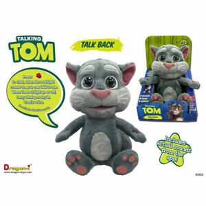 """Official Talking Tom Plush Talkback Animated Soft Cuddly Toy 10"""" FULL FEATURES"""