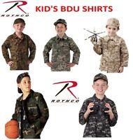 Kids BDU Cargo Fatigue Shirt Kids Camouflage Shirt Military Rothco BDUs Shirts